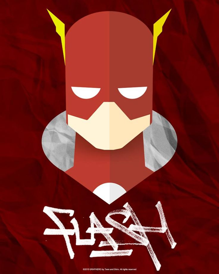 SUPERHEROES MINIMAL: FLASH DC COMICS by Twen