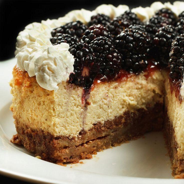 Ricotta Cheesecake with Blackberries
