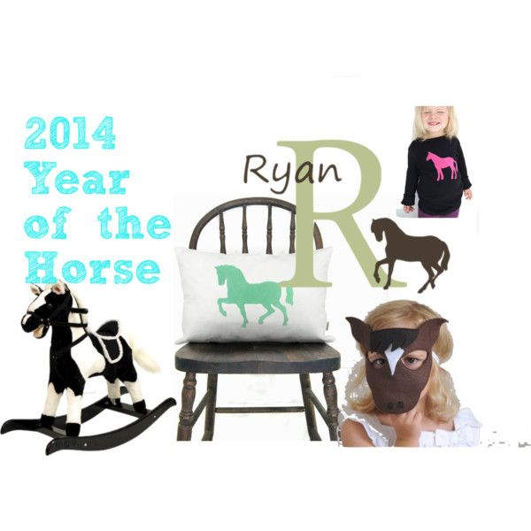 """2014 Year of the Horse"" by dimplesanddrool on Polyvore {for babies born in 2014}"