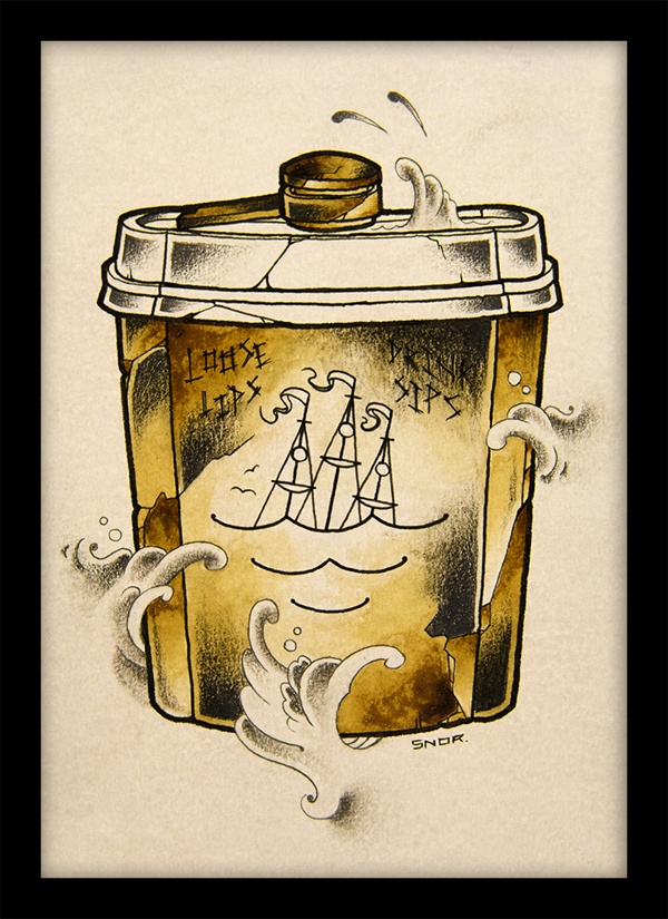 COFFEE TIME - pencil ink coffee vol 3 by Mark Arnesen, via Behance