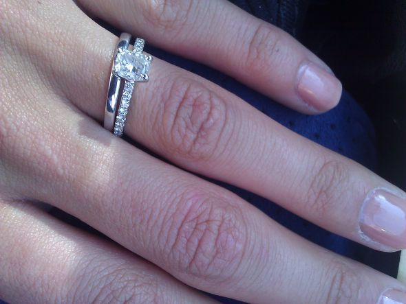 Similar petite pave engagement rings? :  wedding engagement ring pave solitaire WP 000209 2