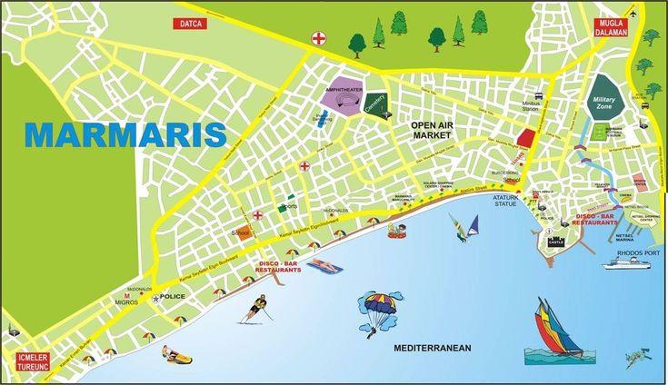 Large map of Marmaris 1