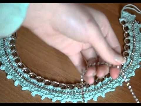 collana crochet con catena - YouTube