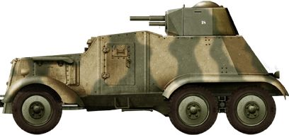 French AAC-37 use in 1940, captured by German troops. Probably original Republican colors.