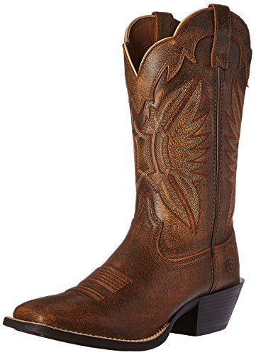 Ariat Women's Round Up Outfitter Western Cowboy Boot, Vin...