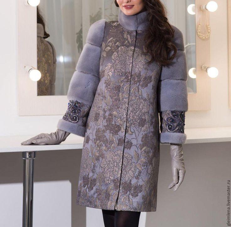 пальто из жаккардовой ткани фото