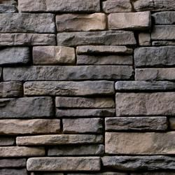 Kodiak Mountain Stone Manufactured Stone Veneer - Ready Stack Stone Panels Collection Rustic Suede / Ready Stack / 120 Sq Ft Crate