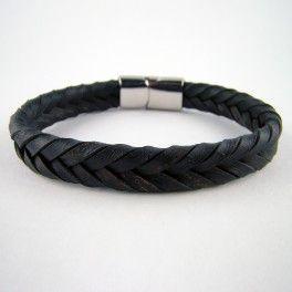 Bracelets de cuir tressés à plat : collection Chevrons