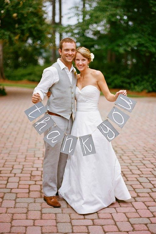 18 Heart-Warming Wedding Thank You Ideas ❤ See more: http://www.weddingforward.com/wedding-thank-you-ideas/ #weddings #photography
