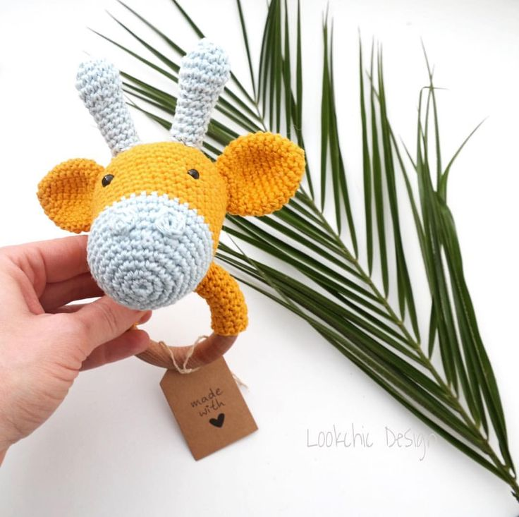 """43 To se mi líbí, 3 komentářů – Lookchic Design (@lookchic_design) na Instagramu: """"Hello, Today I have finished customer order this cute giraffe rattle. It will be a gift at…"""""""