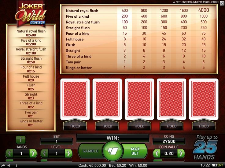 Joker Wild poker game is available for #play - https://www.wintingo.com/