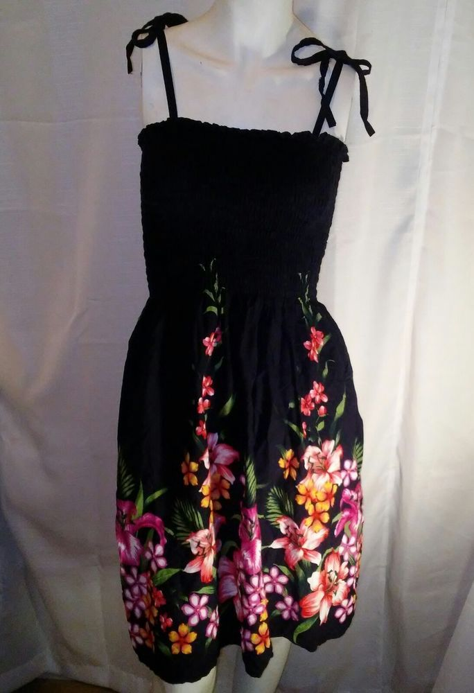 750e5812a6 Hibiscus Collection Hawaii Womens Vintage Floral Sundress   TinasCreationsIncHibiscusCollectionHawaii  SunDress  AnyOccasion