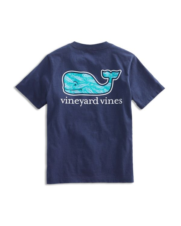 He can with the flow in this comfy cotton tee from Vineyard Vines, featuring the label's signature whale logo swimming with stream-bound fish. | Cotton | Machine wash | Imported | Fits true to size |
