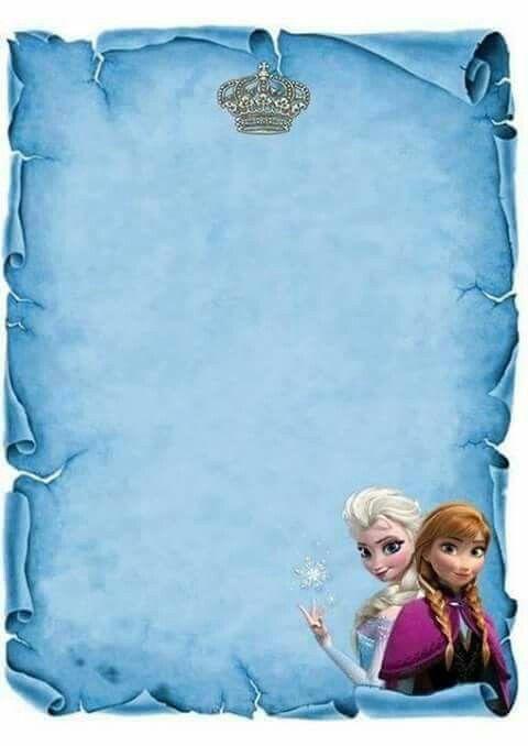 Molde de convite frozen