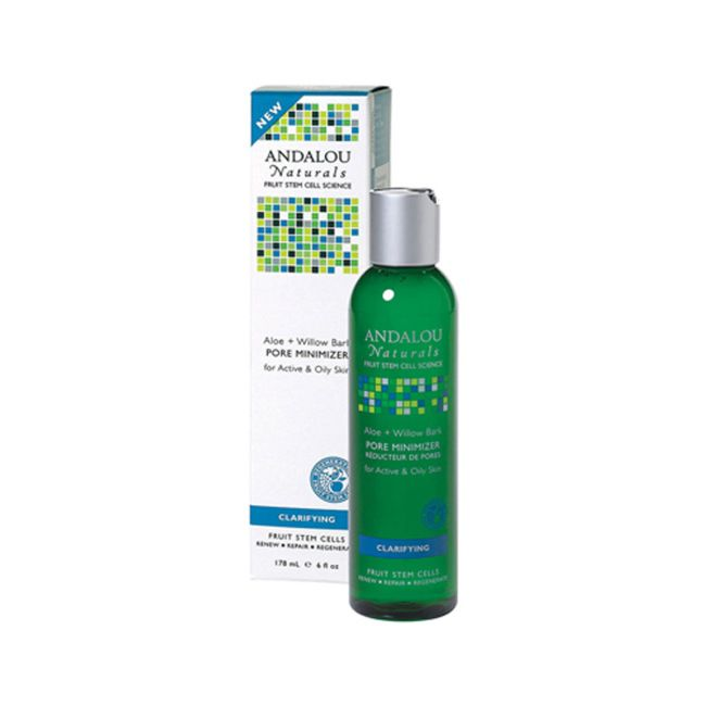 Andalou Naturals Aloe + Willow Bark Pore Minimizer | 6 fl oz Liquid | Skin Care