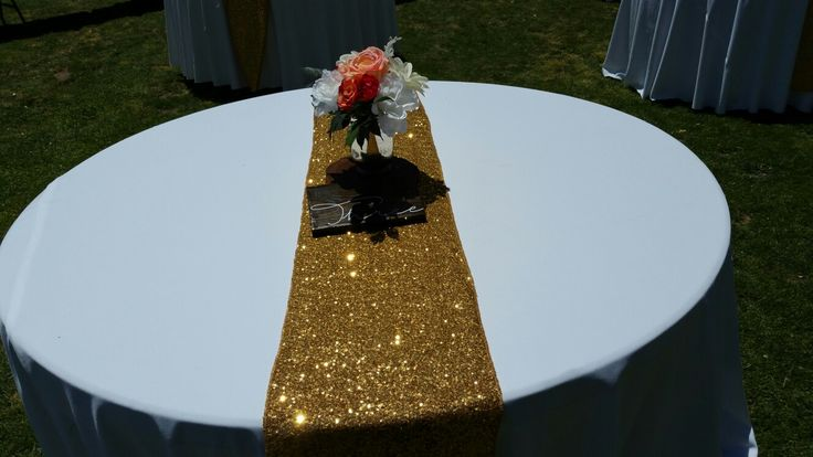 Reception Table Setup by: Elite Wedding Decor - Tucson, AZ Venue: Agua Linda Farms - Armando, AZ