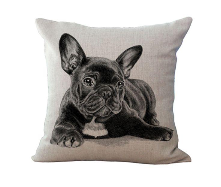Commercio all'ingrosso libero 100% nuovo mianma europeo adorabile french bulldog cane serie cuscino cuscino sul divano per la decorazione domestica