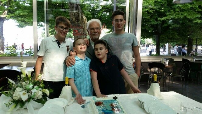 Our son, our nephews and my dad