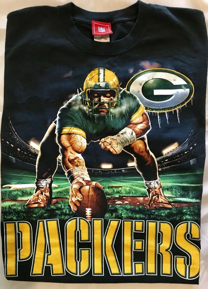 Green Bay Packers Mens T-Shirt Extra Large Logo NFL Football Team Apparel  EUC  NFLTeamApparel  GraphicTee 7489dc88c