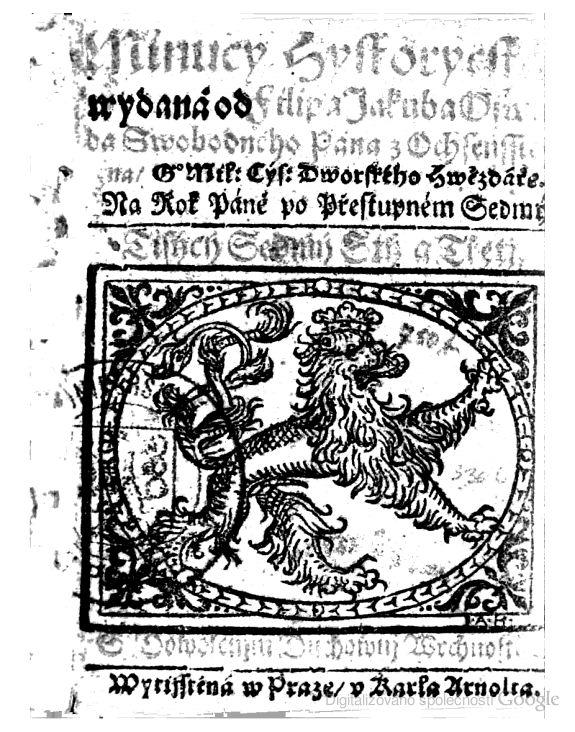 Minucy hystorycká: Na rok Páně po přestupném sedmý. Tisýcý sedmý stý a třetj - Philipp Jakob Oswald von Ochsenstein - Knihy Google