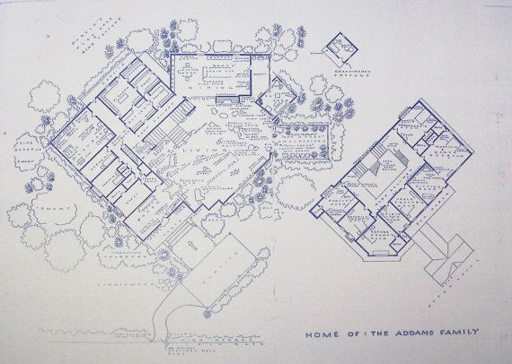 House From Addams Family TV Show Blueprint by BlueprintPlace, $18.99