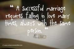 Successful Marriage Love Quotes. So true! As we grow and change we find new reasons to fall in love all over again.