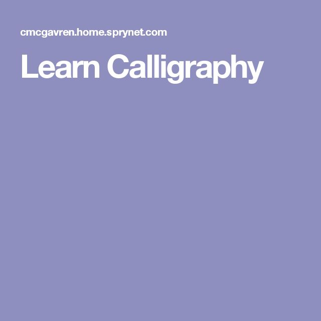 1000 Ideas About Learn Calligraphy On Pinterest