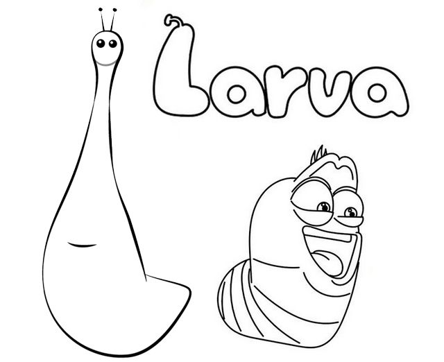 Pin By Pengadaan Indonesia On Larve Kind Kids Coloring Pages Larva Cartoon