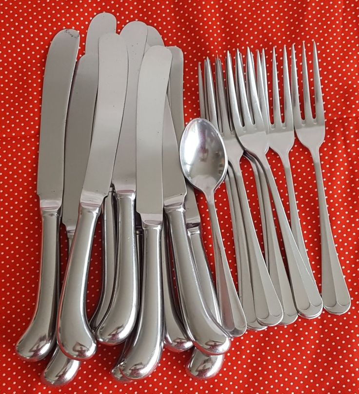 21 Pcs Oxford Hall Old Bradbury Stainless Steel Flatware