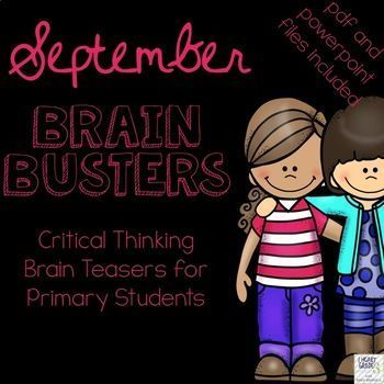 Do you find your homeroom periods to be hectic?  Are your students trying to get your attention, speaking too loudly, or not participating in the morning routine like you would like them to?  Do you have to juggle attendance, homework, lunch money, and notes from home?  If you have answered yes to any of these questions then these Brain Busters are perfect for you!