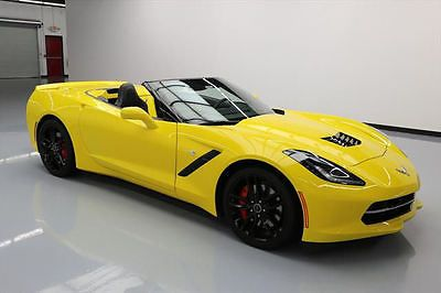 2014 CHEVY CORVETTE STINGRAY 3LT Z51 CONVERTIBLE 10K MI #129651 Texas Direct