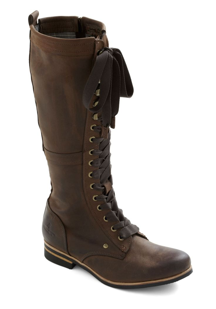Industrial Evolution Boot - Leather, Brown, Solid, Steampunk, Flat, Lace Up, Casual, 90s, Fall, Winter