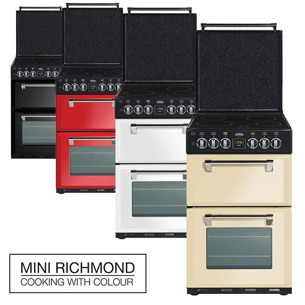 Not a lot of space in your kitchen? The Mini Richmond's 54cm width is perfect for smaller kitchens, but they pack just as much as any other Belling oven - they're quality in a fun size! Available in cream, white, red and black and 2 different fuel options.