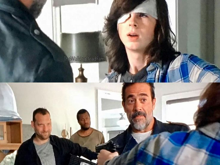 The Walking Dead Season 7 Episode 4 'Service' Carl Grimes and Negan