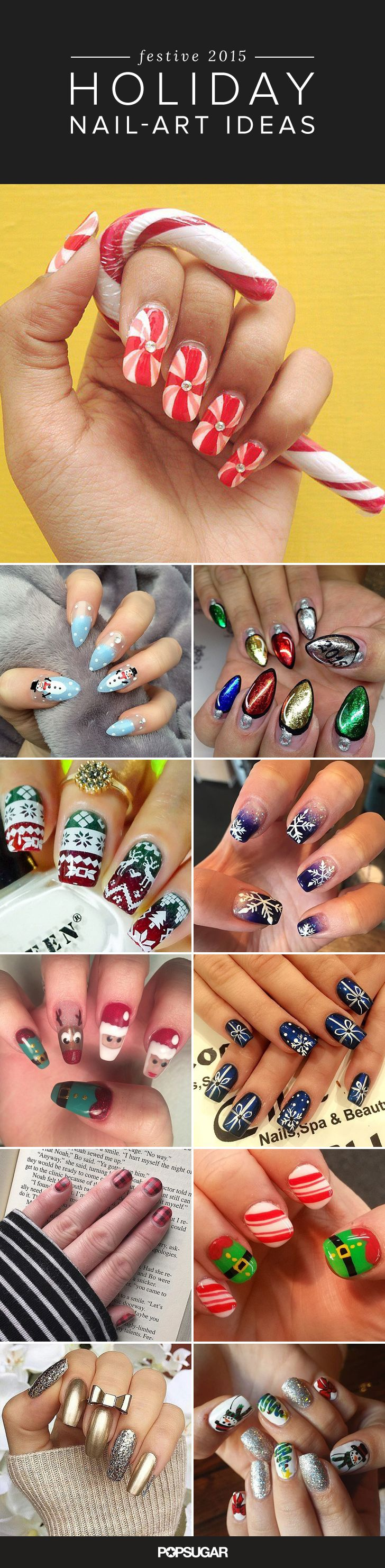 Get into the holiday spirit with these festive digit designs!