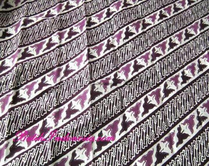 "Batik Priangan motif ""Lereng -kangkung-ungu""..."