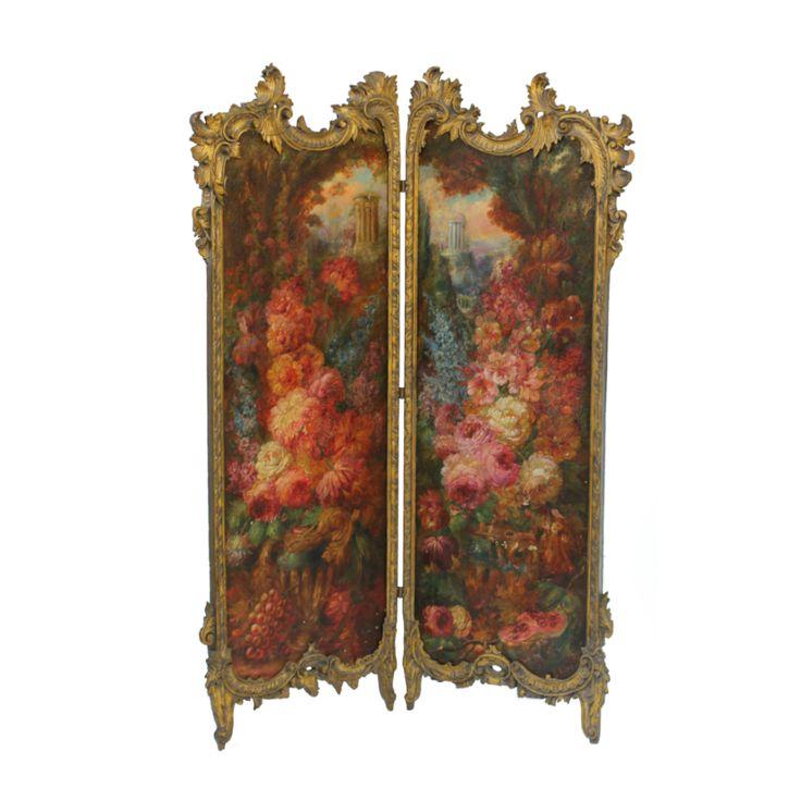 19th Century Hand Painted Italian Screen