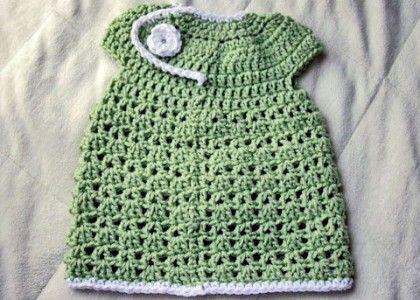Free Crochet Infant spring dress tutorial - so sweet.