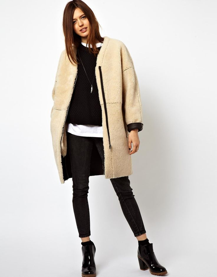 death-by-elocution:  Shearling Cocoon Coat.