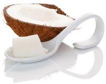 Alles wat je moet weten over voeding Waarom Kokosolie goed voor je tanden isEen half Kokosnoot en een lepel met Kokosolie