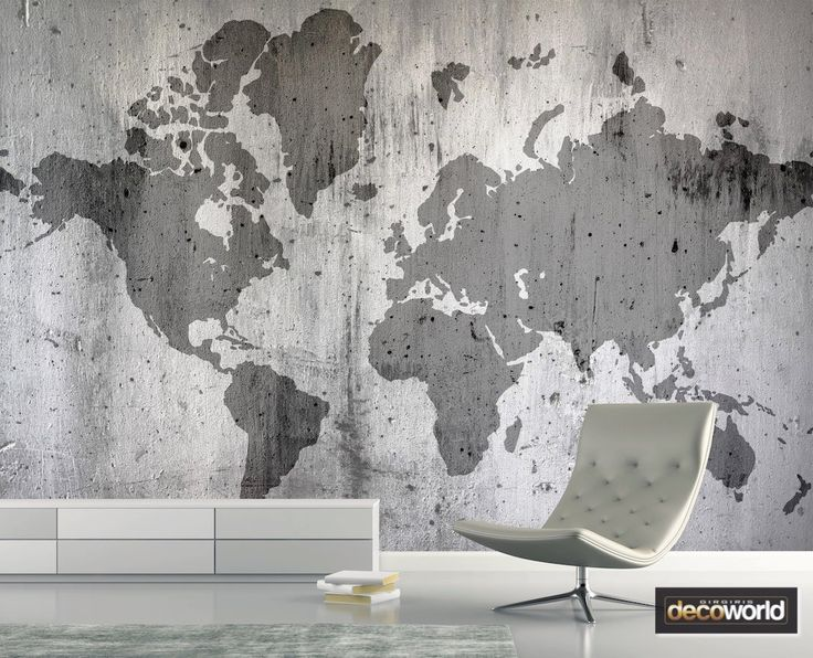 The 35 best maps images on pinterest faded world map outline on cement wall wallpaper for industrial style decor gumiabroncs Images
