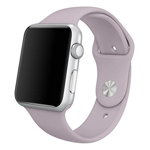Yearscase 38MM Soft Silicone Sport Replacement Band for Apple Watch Series 1 2 3 S/M Size - Light Purple