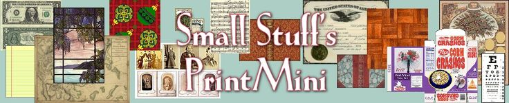 Small Stuff PrintMini - A growing source collection of printable scale minis, from foldable computers to stained glass windows.  There's a hobby calculator to convert scales, & all are free to print on an inkjet for personal use.  #DIY #art #craft