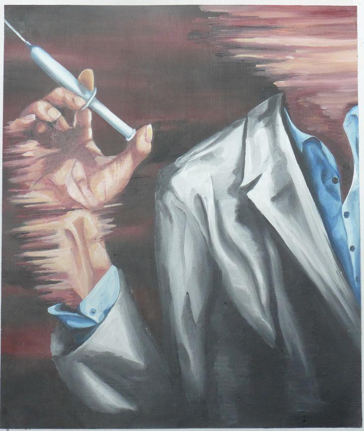 Caelyn Eades, Fear of doctors, Oil paint