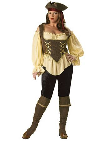 Elite Rustic Pirate Lady Adult Costume | Wholesale Pirates Womens Halloween Costume for Plus Sizes - Maybe if I loose a little bit MORE weight.
