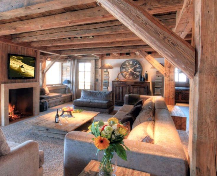 Rustikal wohnen  268 besten Chalet Bilder auf Pinterest | Bauernhaus, Wohnen und Haus