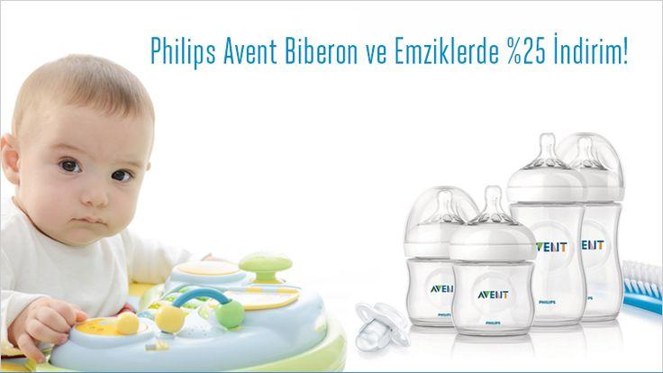 Philips Avent Biberon Emziklerde %25 İndirim!