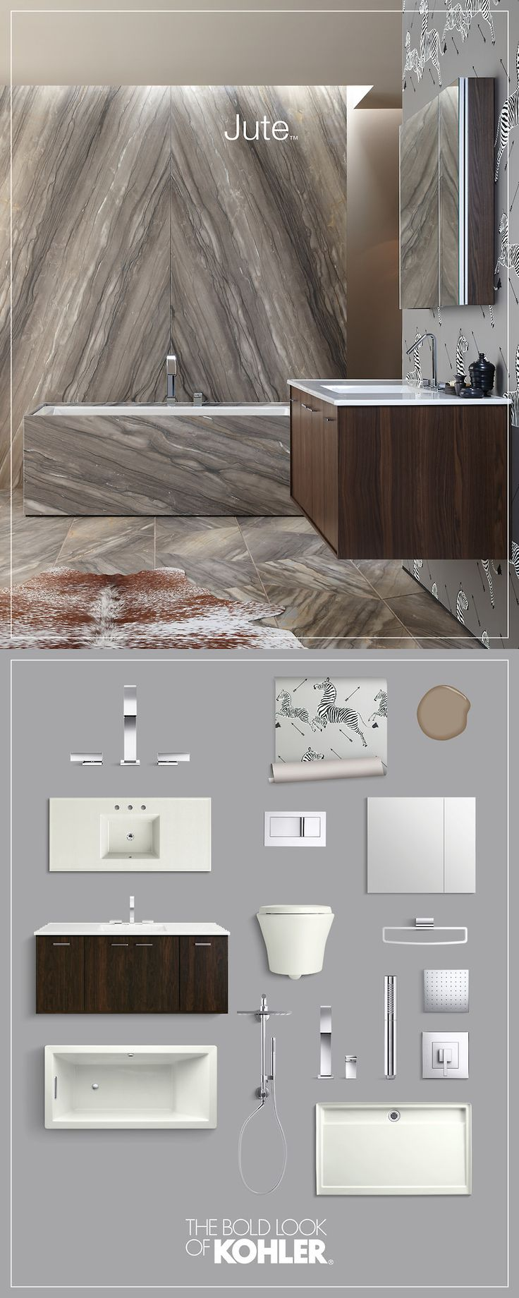 Everything you need to design a dusky  sophisticated bathroom with the Jute line from our new Tailored Vanity Collection  Explore more wood inspired design. 1000  images about KOHLER   Vanity Collections on Pinterest
