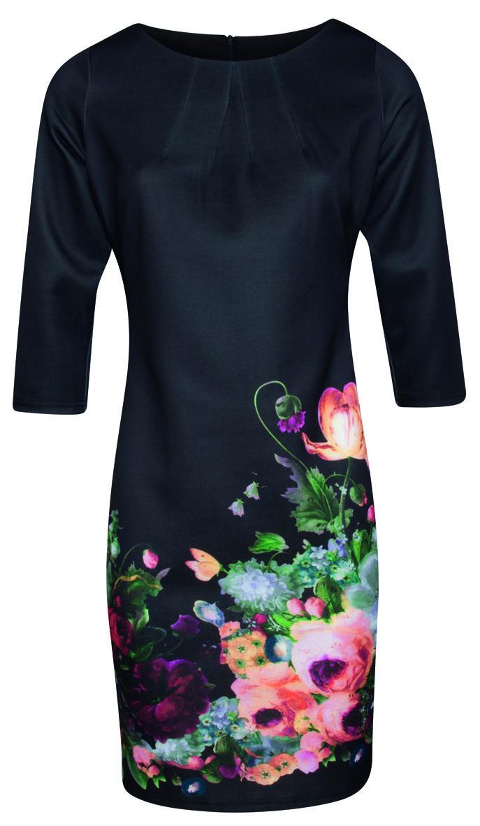 Jurk SMASHED LEMON met prachtige bloemen | Queen Yelien