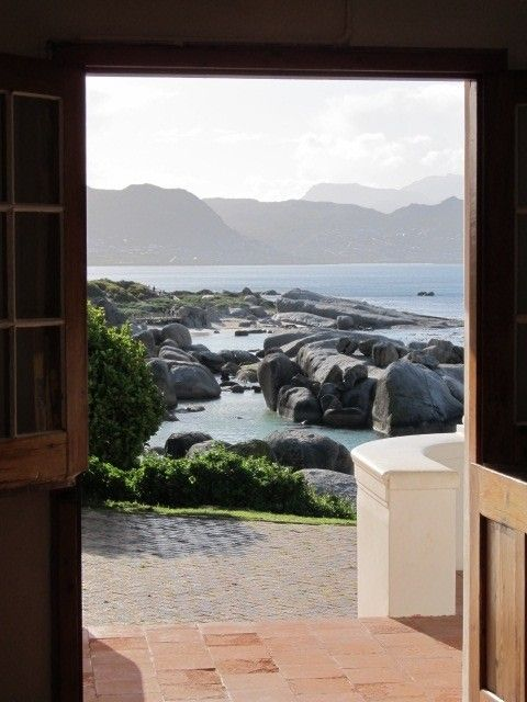 Self catering accommodation, Simonstown, Cape Town   Magnificent views at the front door stoep  http://www.pinterest.com/capepointroute/bosky-dell/